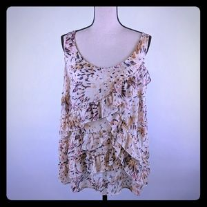 Old Navy cami peach pink and purple 1X